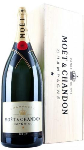 "Шампанское Moet & Chandon, Brut ""Imperial"", with wooden box, 12 л"