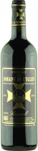 Вино Chateau du Domaine de l'Eglise, Pomerol AOC, 2006, 0.375 л