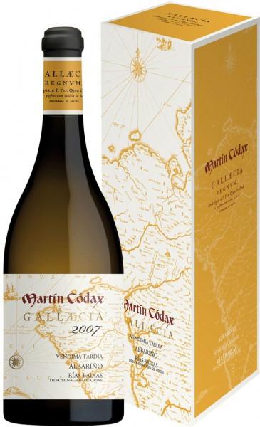 """Вино Martin Codax, """"Gallaecia"""", Albarino, 2007, gift box"""