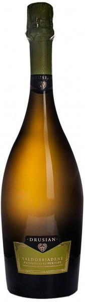 Игристое вино Drusian, Valdobbiadene Prosecco Superiore DOCG Spumante Brut, 2014