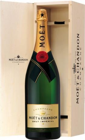 "Шампанское Moet & Chandon, Brut ""Imperial"", with wooden box, 3 л"