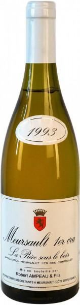 Вино Robert Ampeau et Fils, Meursault Premier Cru La Piece sous le bois AOC, 1993