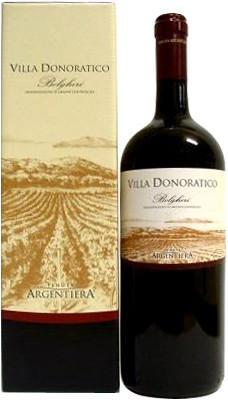 """Вино Argentiera, """"Villa Donoratico"""" 2007, gift box, 1.5 л"""