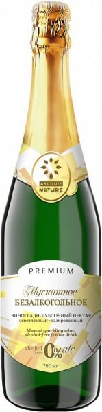 """Игристое вино Zhivie Soki, """"Absolute Nature"""" Muscat, No Alcohol"""