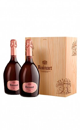 Шампанское Ruinart Rose Brut two bottles box 1.5л
