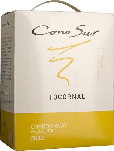 "Вино Cono Sur, ""Tocornal"" Chardonnay, Central Valley DO, 2012, 3 л"