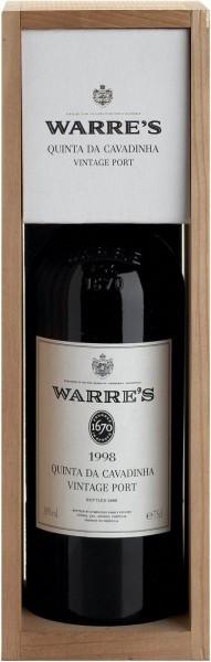Вино Warre's Quinta da Cavadinha Vintage Port 1998, wooden box