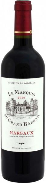 Вино Le Marquis Du Grand Barrail, Margaux AOC, 2010