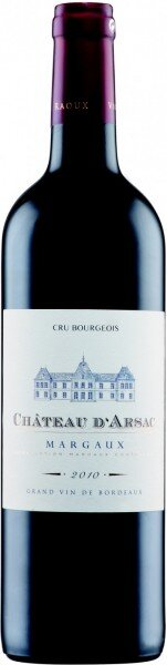 Вино Chateau d'Arsac, Cru Bourgeois Margaux AOC, 2010
