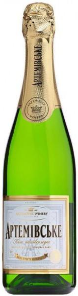 """Игристое вино """"Artemovskoye"""" White semi-sweet (white label)"""