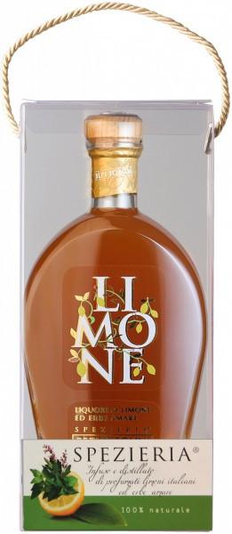 """Ликер Bepi Tosolini, """"Limone"""" Limone ed Erbe Amare, gift plastic box, 0.7 л"""