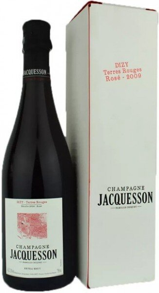 """Шампанское Jacquesson, """"Dizy"""" Terres Rouges, Rose Extra Brut, 2009, gift box"""