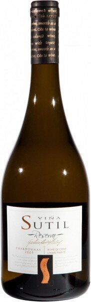"Вино ""Sutil"" Reserva, Chardonnay"