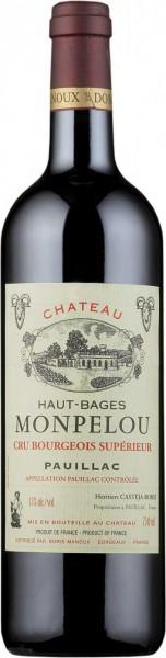 Вино Chateau Haut-Bages Monpelou, Pauillac AOC, 2011, 0.375 л