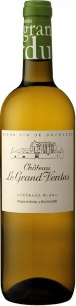 "Вино ""Chateau Le Grand Verdus"" Blanc, Bordeaux AOP, 2015"