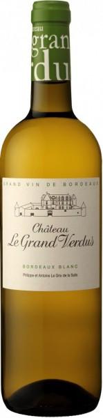 """Вино """"Chateau Le Grand Verdus"""" Blanc, Bordeaux AOP, 2015"""