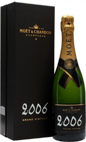 Шампанское Moet & Chandon, Brut Vintage, 2006, gift box