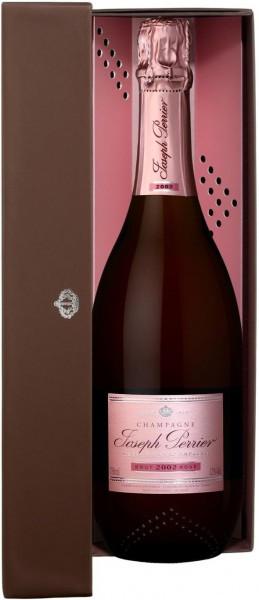 """Шампанское Joseph Perrier, """"Cuvee Rose"""" Brut, Champagne AOC, 2002, gift box"""