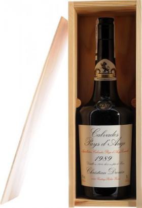 """Кальвадос """"Coeur de Lion"""", Calvados Pays d`Auge, 1989, wooden box, 0.7 л"""