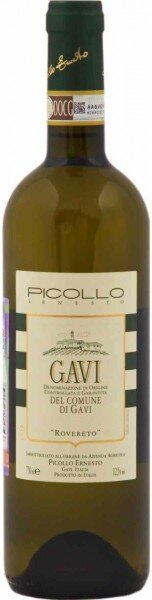"""Вино Picollo Ernesto, Gavi del Comune di Gavi """"Rovereto"""" DOCG, 2013"""