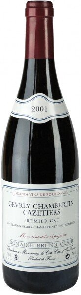 Вино Domaine Bruno Clair Gevrey-Chambertin Premier Cru Cazetiers 2001