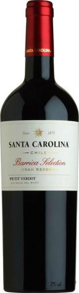 "Вино Santa Carolina, ""Barrica Selection"" Gran Reserva Petit Verdot"