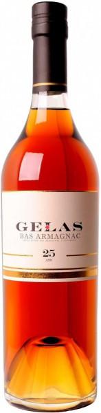 """Арманьяк Gelas, """"Bas Armagnac"""", 25 ans, 0.7 л"""