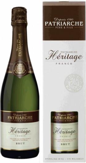 """Игристое вино Patriarche, """"Heritage"""" Brut, gift box"""