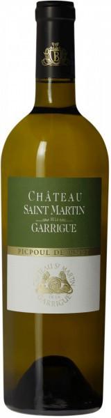 """Вино """"Chateau Saint Martin de la Garrigue"""" Picpoul de Pinet"""