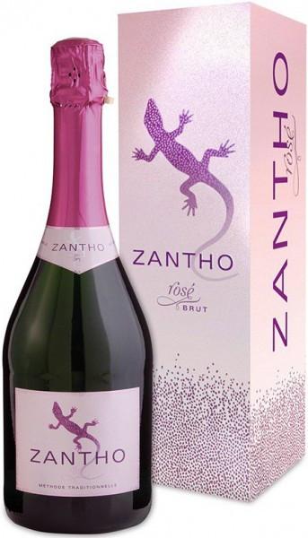 Игристое вино Zantho, Rose Brut, gift box