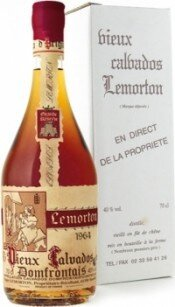 Кальвадос Calvados Lemorton Vintage 1964, gift box, 0.7 л