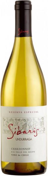 """Вино Undurraga, """"Sibaris"""" Chardonnay Reserva Especial, Maipo Valley DO, 2014"""