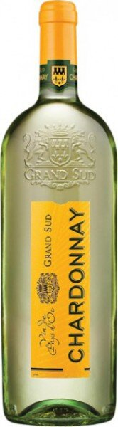 "Вино ""Grand Sud"" Chardonnay, 2012, 1 л"