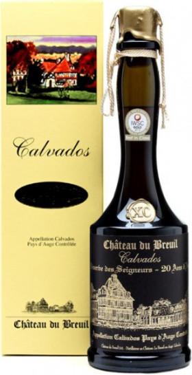 """Кальвадос Chateau du Breuil, """"Reserve des Seigneurs"""" XO, Pays d'Auge AOC, gift box, 0.7 л"""