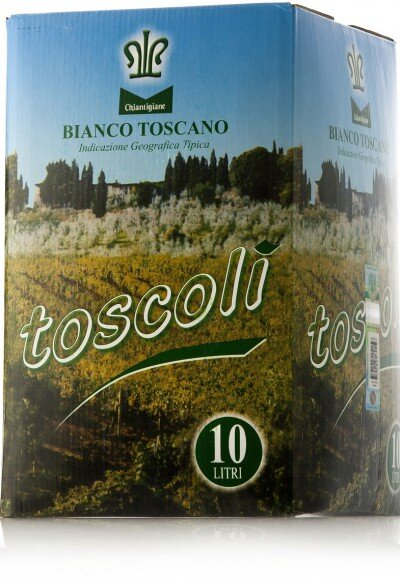 "Вино Chiantigiane, ""Toscoli"" Bianco Toscano IGT, 10 л"