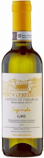 "Вино Castello di Tassarolo, ""Spinola"", Gavi DOCG, 2013, 0.375 л"