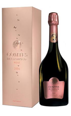 Шампанское Taittinger Comtes de Champagne Rose gift box 2006 0.75л