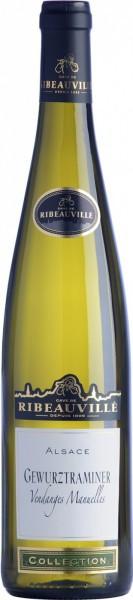 """Вино Cave de Ribeauville, Gewurztraminer """"Vendanges Manuelles"""", Alsace AOC, 0.375 л"""