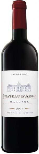 Вино Chateau d'Arsac, Cru Bourgeois Margaux AOC, 2014