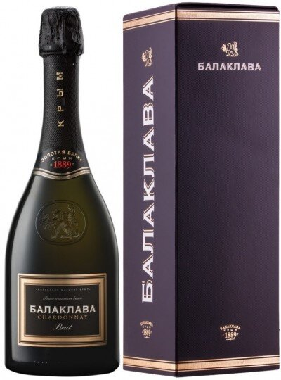 "Игристое вино ""Balaklava"" Chardonnay Brut, gift box"