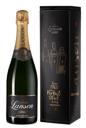 Шампанское Lanson Black Label Brut, gift box