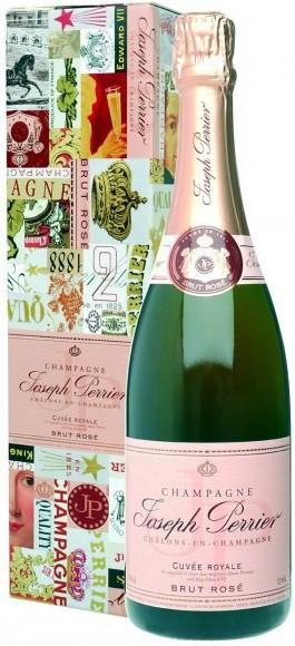 """Шампанское Joseph Perrier, """"Cuvee Royale"""" Brut Rose, gift box"""