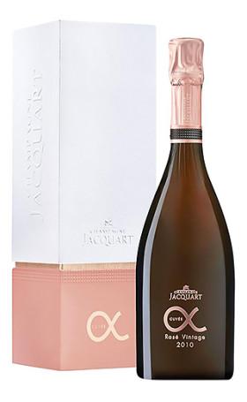 Шампанское Jacquart Cuvee Alpha Vintage Rose 2010 gift box 0.75л
