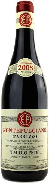 Вино Emidio Pepe, Montepulciano d'Abruzzo DOC, 2005