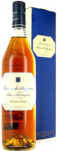 "Арманьяк ""Baron de Sigognac"" 10 ans d'age, gift box, 0.7 л"