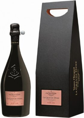 Шампанское Veuve Clicquot La Grande Dame Rose 1998 in gift box