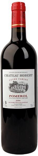 """Вино Chateau Robert, """"Cuvee Carles"""", Pomerol AOC, 2006"""