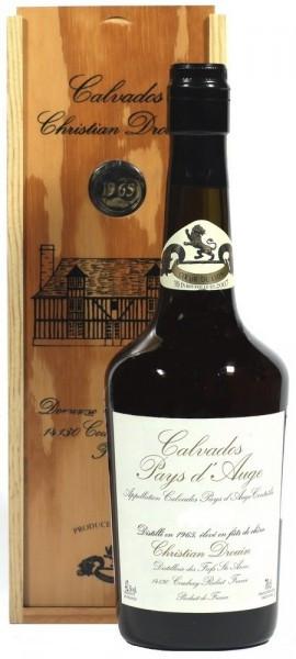 """Кальвадос """"Coeur de Lion"""" Calvados Pays d`Auge, 1994, wooden box, 0.7 л"""