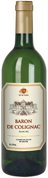 """Вино """"Baron de Colignac"""" Blanc Sec"""