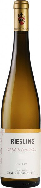 """Вино Zind-Humbrecht, Riesling """"Terroir d'Alsace"""", Alsace AOC, 2012"""